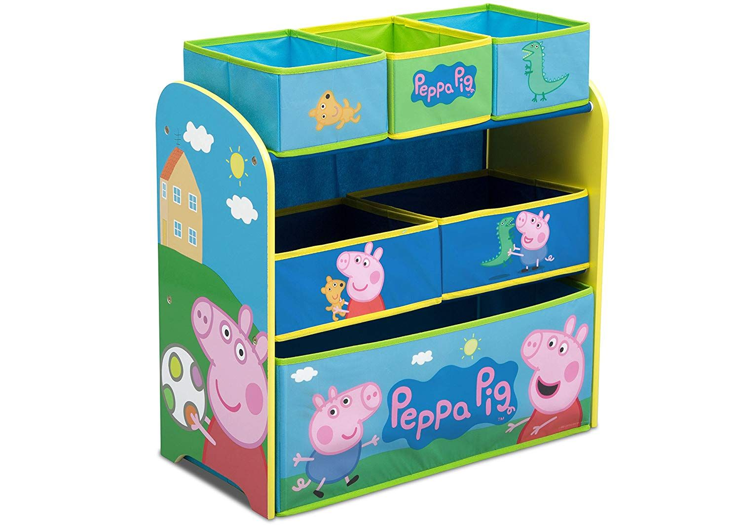 Multi Bin Toy Organizer Peppa Pig Recognizable Characters Stylish Storage Solutionthe Storage Solution Toy Organization Toy Storage Organization Peppa Pig