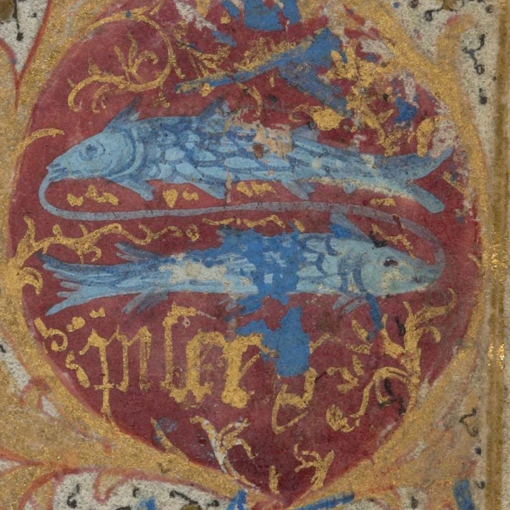 Zodiac sign of PISCES in a 15th century manuscript | Flickr - Photo Sharing!