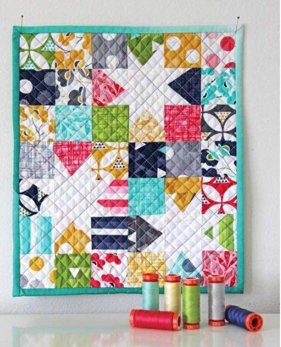 LUCKY STAR QUILT KIT - Moda COLOR THEORY fabric + Set of 7 AURIFIL ... : miniature quilt kits - Adamdwight.com