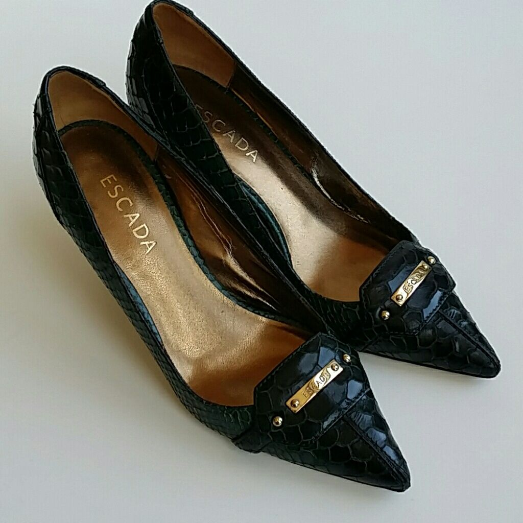 Escada Shoes | Escada Pumps | Color: BrownGreen | Size: 8