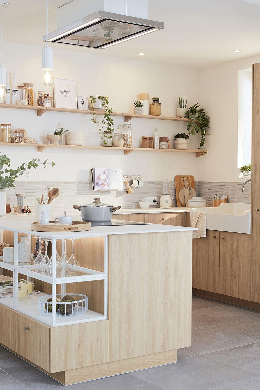 Une cuisine ouverte nature et lumineuse en 12   Idée déco ...
