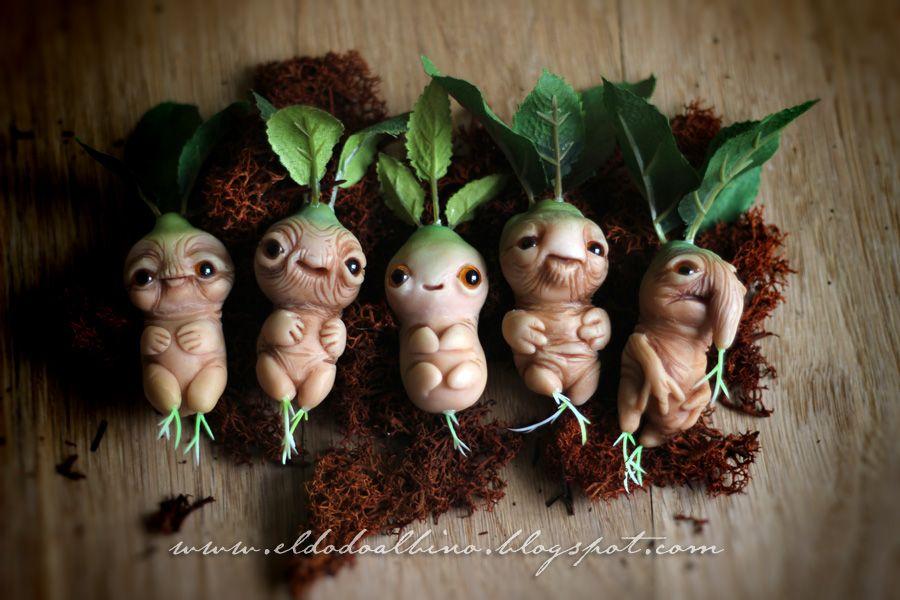 Ooak Mandrake Art Doll By Dodoalbino On Deviantart Polymer Clay Fairy Clay Fairies Fairy Garden
