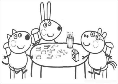 Dibujos De Peppa Pig En Espaol Gratis amigos  IMAGENES DE