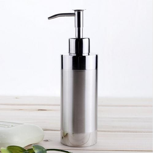 Stainless Steel Empty Lotion Pump Bottles Hand Sanitizer Bath