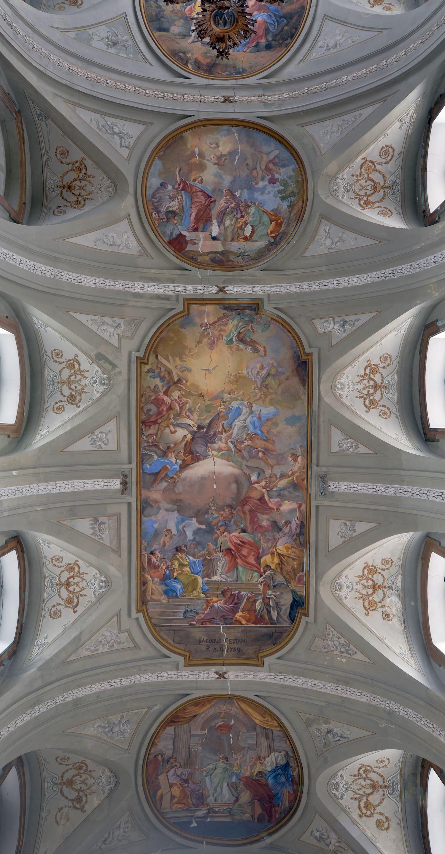 San Filippo e Naples. Ceiling vault over the Nave