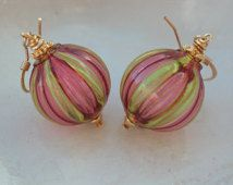 Venetian Murano Blown Glass Earrings