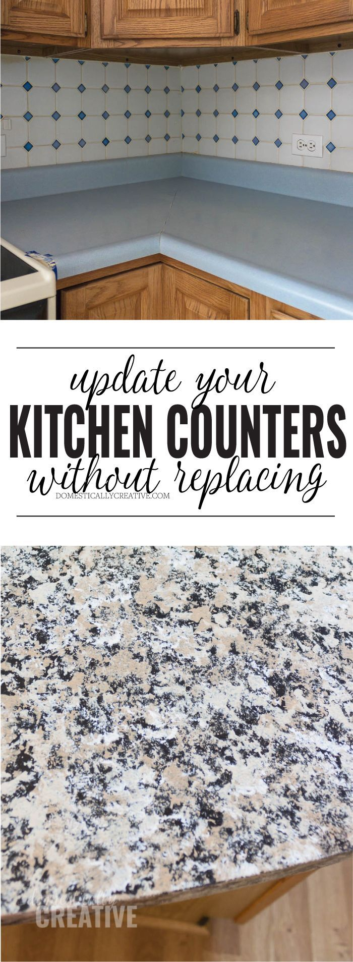 How To Update Kitchen Counters {without replacing them ...
