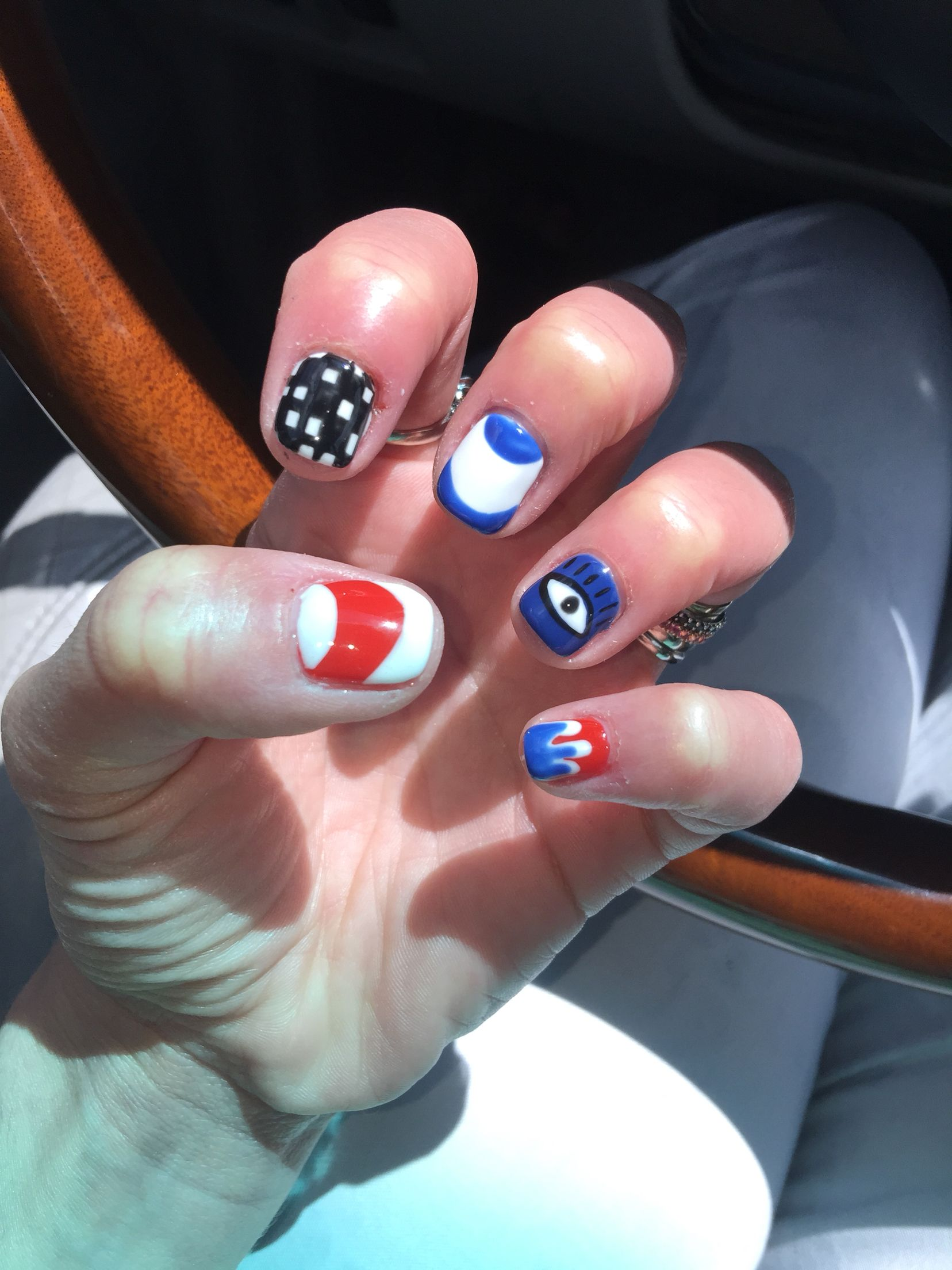 The Nail Company Indianapolis Indy 500 gel nails nail art Emma thxs ...