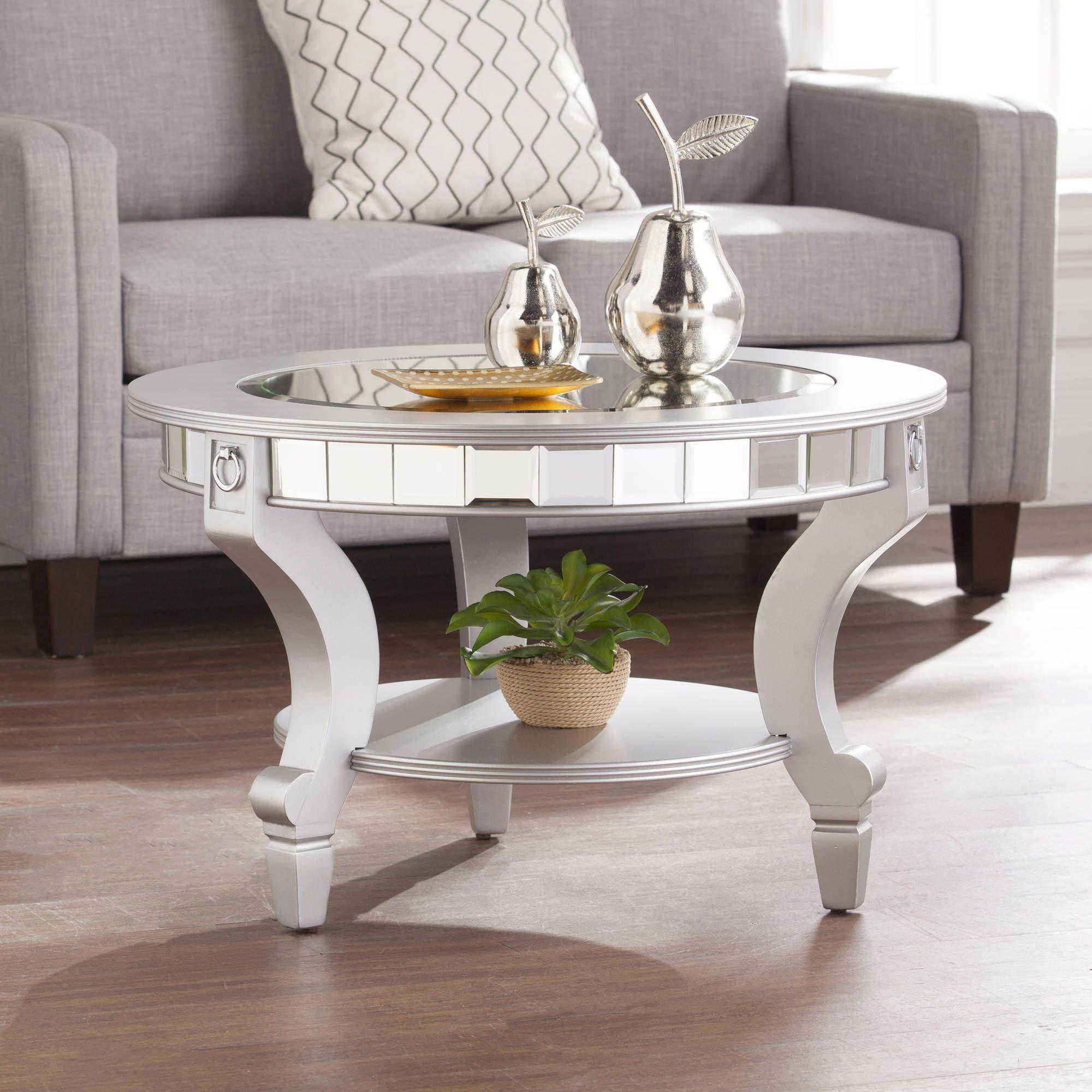 Ladislas Glam Mirrored Round Coffee Table Matte Silver By Ember Interiors Walmart Com Coffee Table Mirrored Coffee Tables Round Coffee Table [ 2000 x 2000 Pixel ]