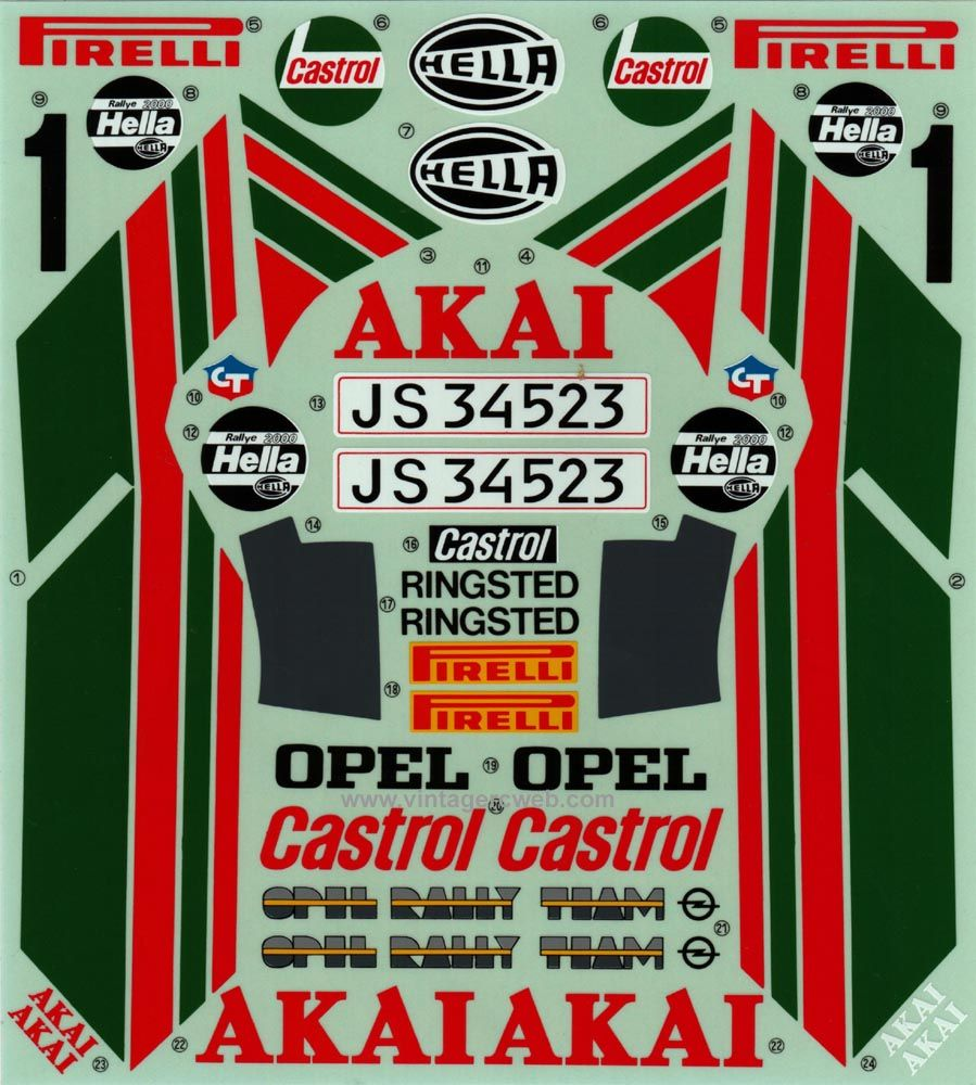 decal_opel_ascona (With images) Opel