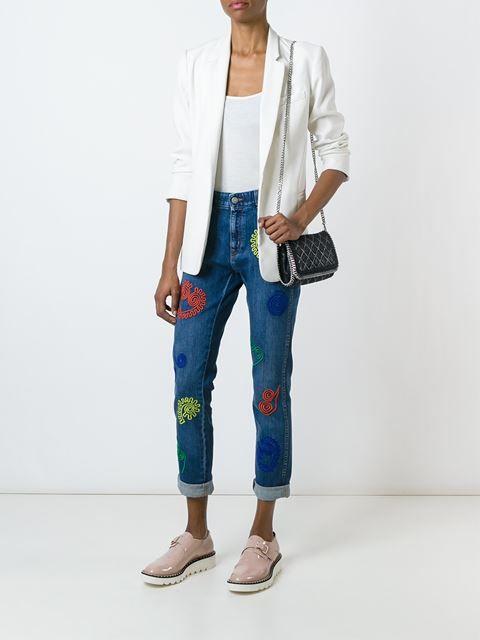 Stella McCartney Calça jeans slim com bordados