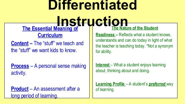 Differentiated Instruction In The Lote Classroom Differentiated