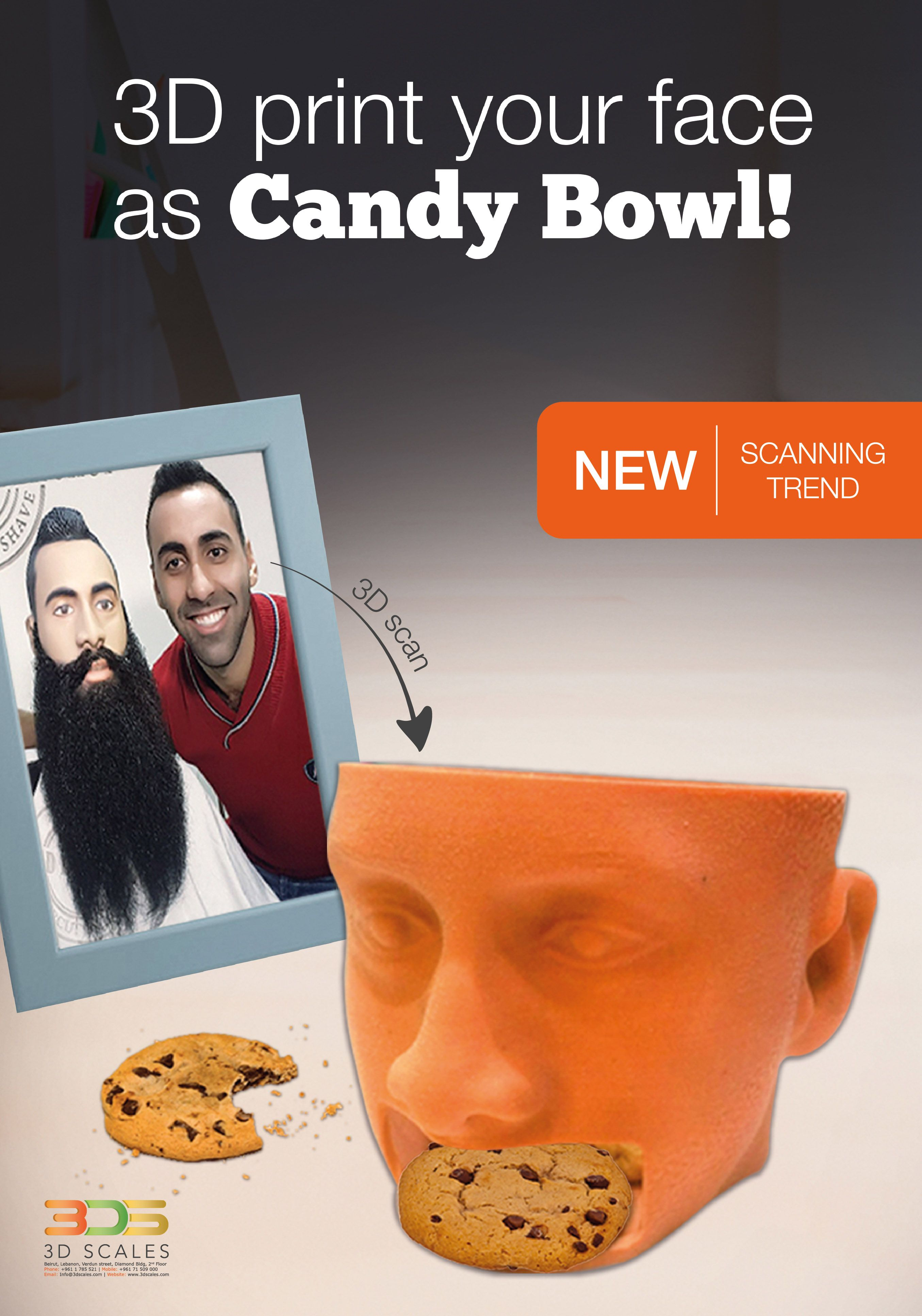 New scanning trend Candy bowl #3Dscales #3Dprinting  www.3dscales.com