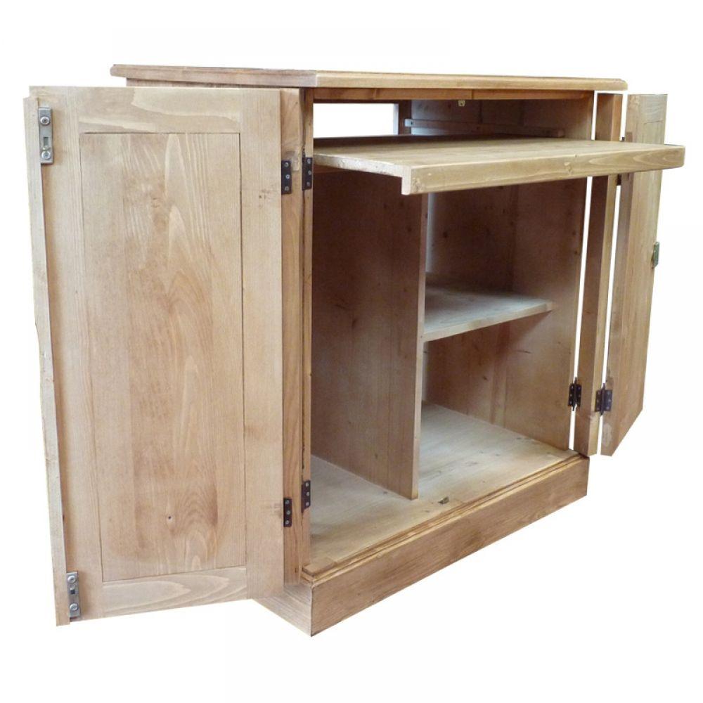 Bureau bois massif informatique cir miel bureau informatique bois massif et bureau bois massif - Bureau informatique en pin ...