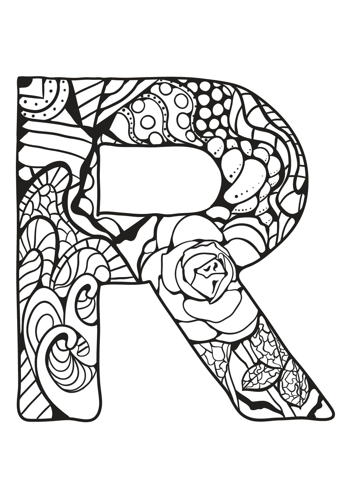 Alphabet Lettre R Alphabet Lettre R A Partir De La Galerie Alphabet Source Livre Coloriage Par Peksel Coloriage Alphabet Alphabet A Colorier Coloriage