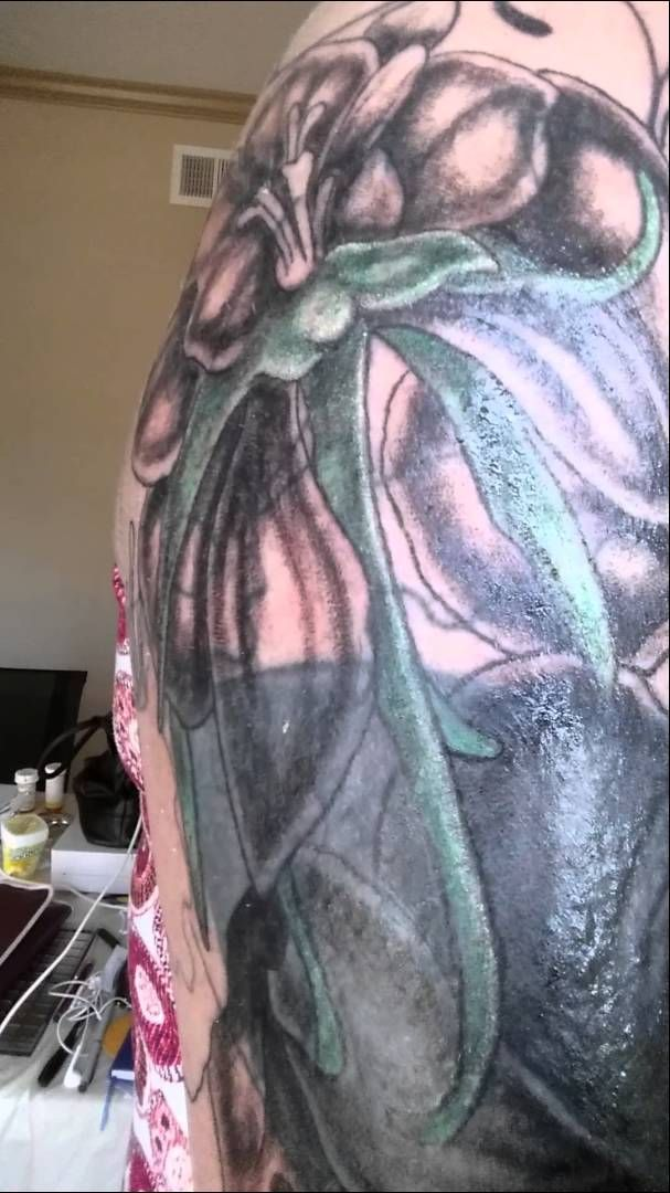 The beginning stages of my #Tattoo. This is about stage 3 and previous to any color being added. SecondSkin Tattoo, TN