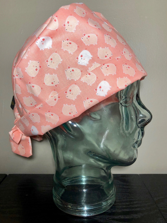56170799dafbc Tiny Pigs on Pink Surgical Scrub Hat