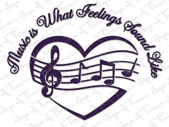 Music is What Feelings Sound Like Heart SVG DFX PNG   Etsy