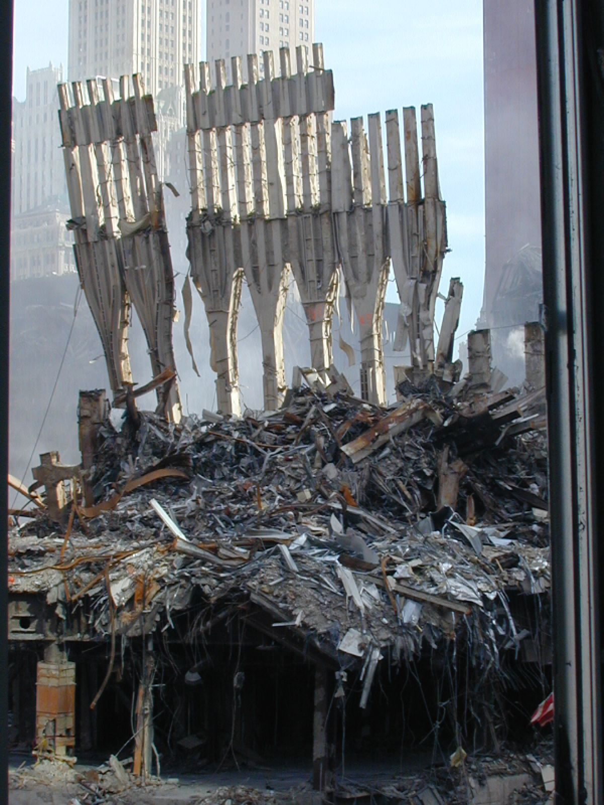 Aftermath  9/11,   Ground Zero, September 11, 2001, never forget, the day the world changed, rubbles, ruins, terrorist attack, photograph, photo