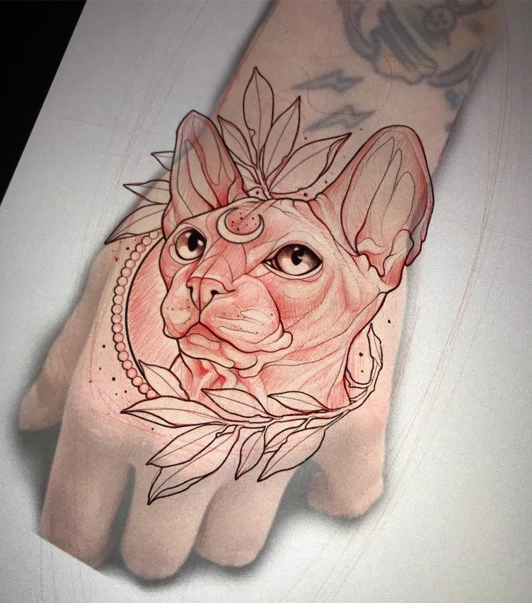 ???? Another one for @milanotattooconvention | neo traditional tattoo sleeve ideas flash art #milanotattooconvention #tattoo #artwork #handtattoo #doodle #sphynxtattoo #artistspotlight #neotraditionaltattoo