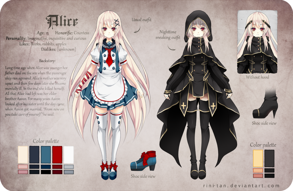 Manga Character Design Ideas : Alice reference by rini tan viantart on deviantart