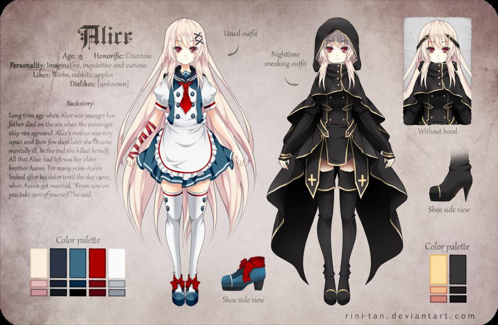 Manga Character Design Ideas : Alice reference by rini tan viantart on deviantart