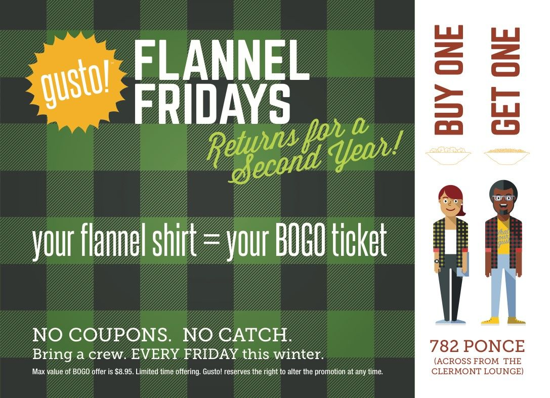 Flannel Fridays At Gusto Events In Atlanta Flannel