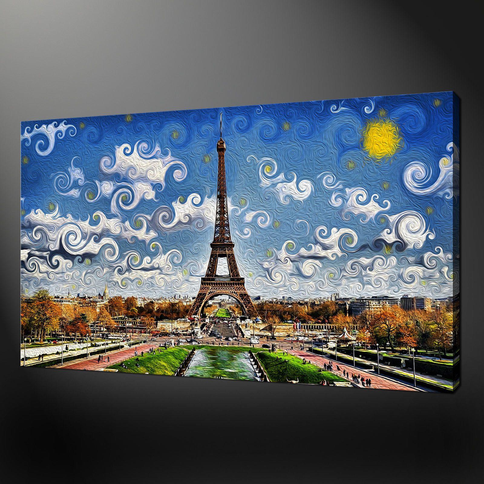 Canvas print art eiffel tower paris canvas wall art