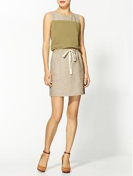 Super. // Hive & Honey Colorblocked Linen Drawstring Dress   Piperlime
