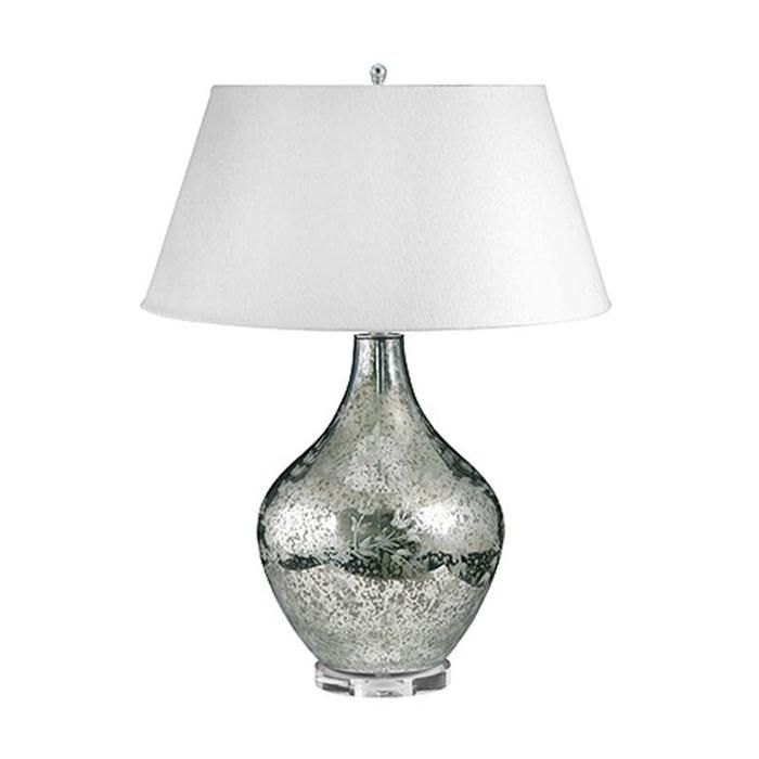 Hand etched mercury glass table lamp in etched silver mercury nebraska furniture mart