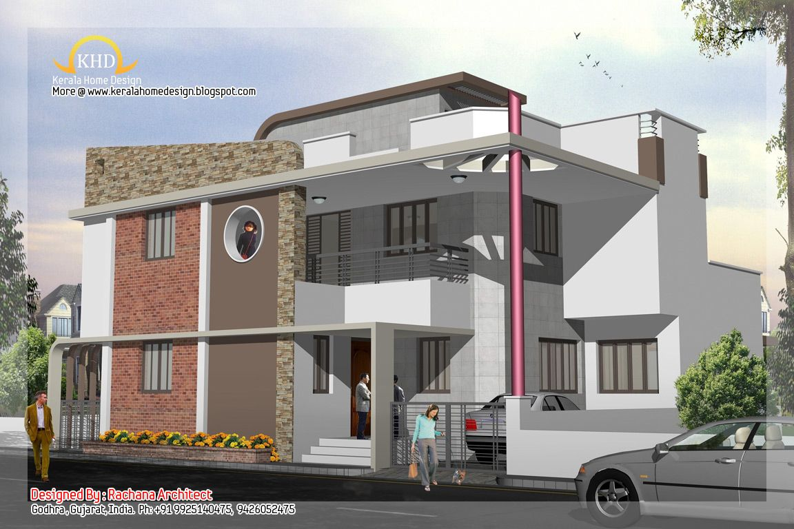 3d elevation 1152 768 residence elevations for Latest house elevation