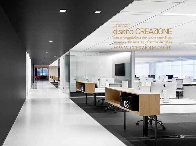 Bureau bench design pour open space coworking pour personnes