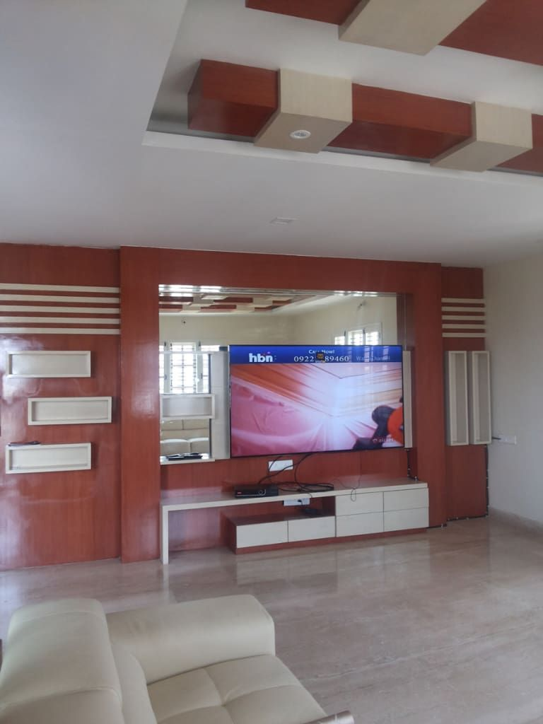 Lcd Panel Design Interior: Private Client At Sahakarnagar Bangalore: Classic By Arka