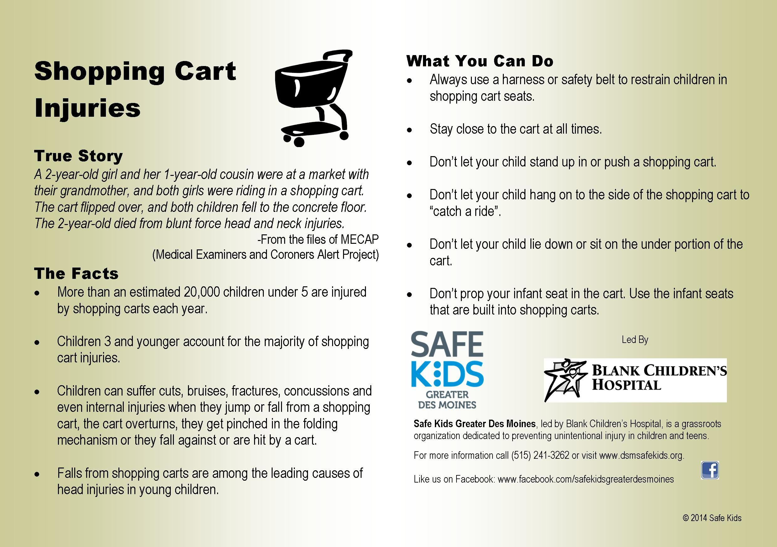 Shopping Cart Safety Tips