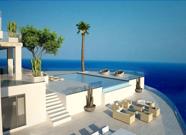 Terraza Con Piscina Y Vistas Al Mar En Ibiza Josep
