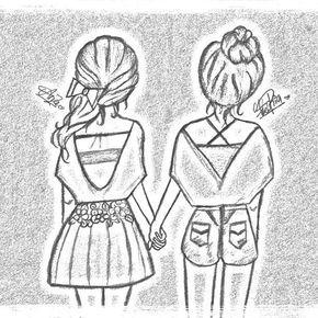 Best Friend Drawings Google Search Drawings Of Friends Best Friend Drawings Bff Drawings