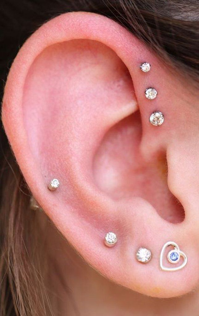 Cute Simple Ear Piercing Ideas at MyBodiArt.com - Crystal ...