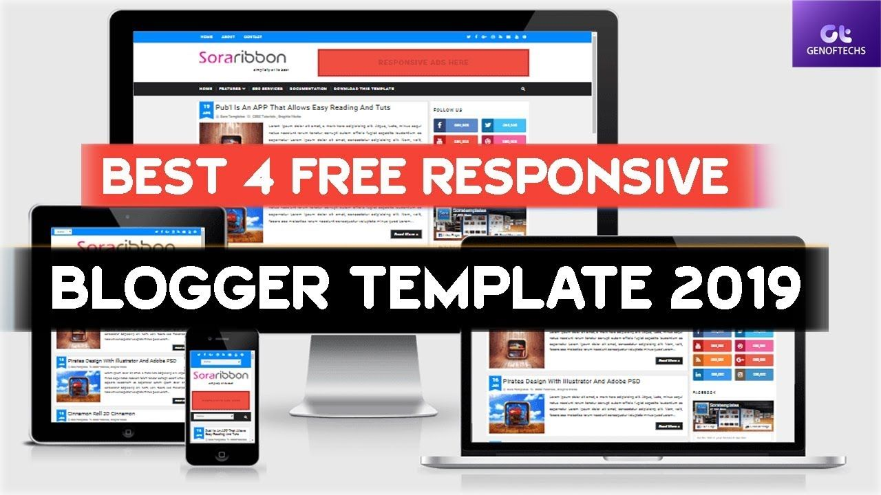 Best 4 Responsive Seo Friendly And Mobile Friendly Blogger Template Free Free Blogger Templates Blogger Templates Template Free