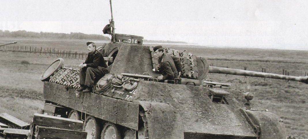 Пантера Ausf D.№-314 (цимерит ) подразделение не известно. Франция. 1944 год