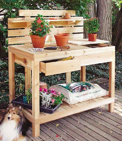 gardening table gardening links our blog wood potting bench