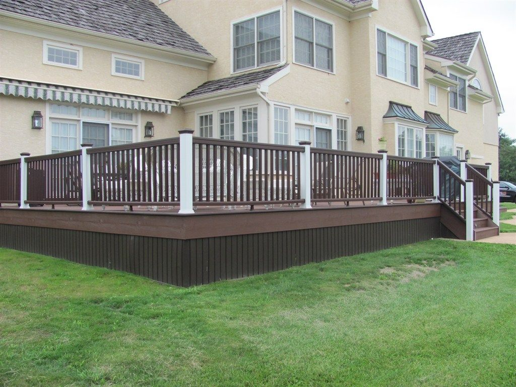 Pin By Joanne Titcomb On My Home Ideas Staining Deck Deck Colors Wood Deck Railing
