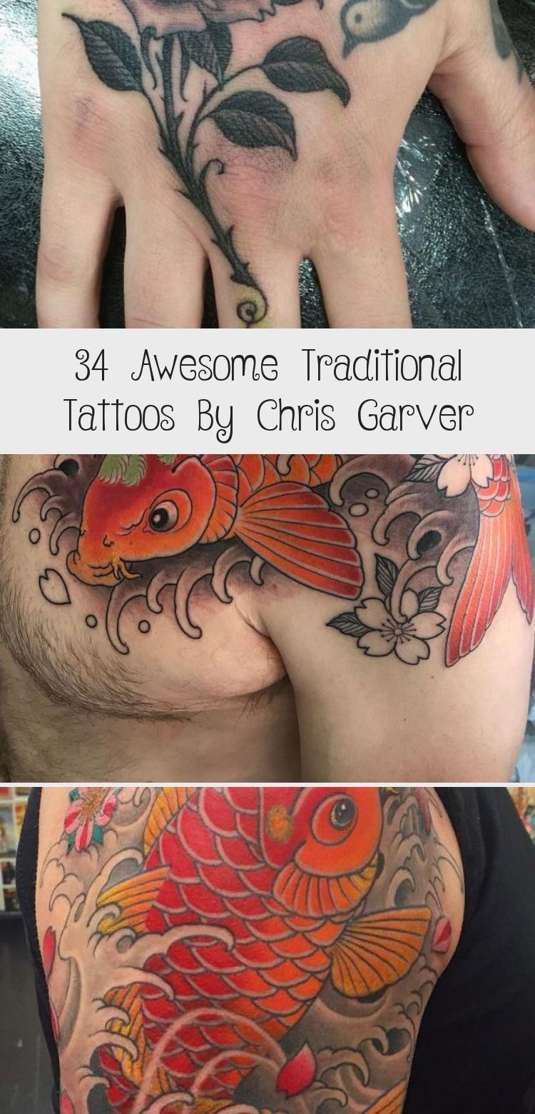 Photo of 34 impressionnants tatouages traditionnels par Chris Garver – Tatouages