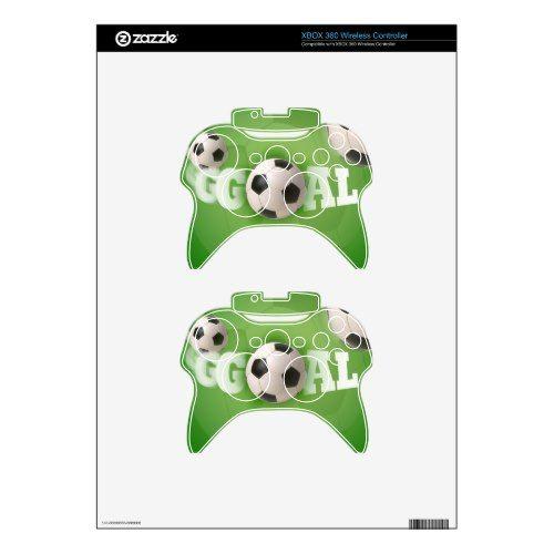 Soccer Ball Football Goal Xbox 360 Controller Skin Soccer Inspiration