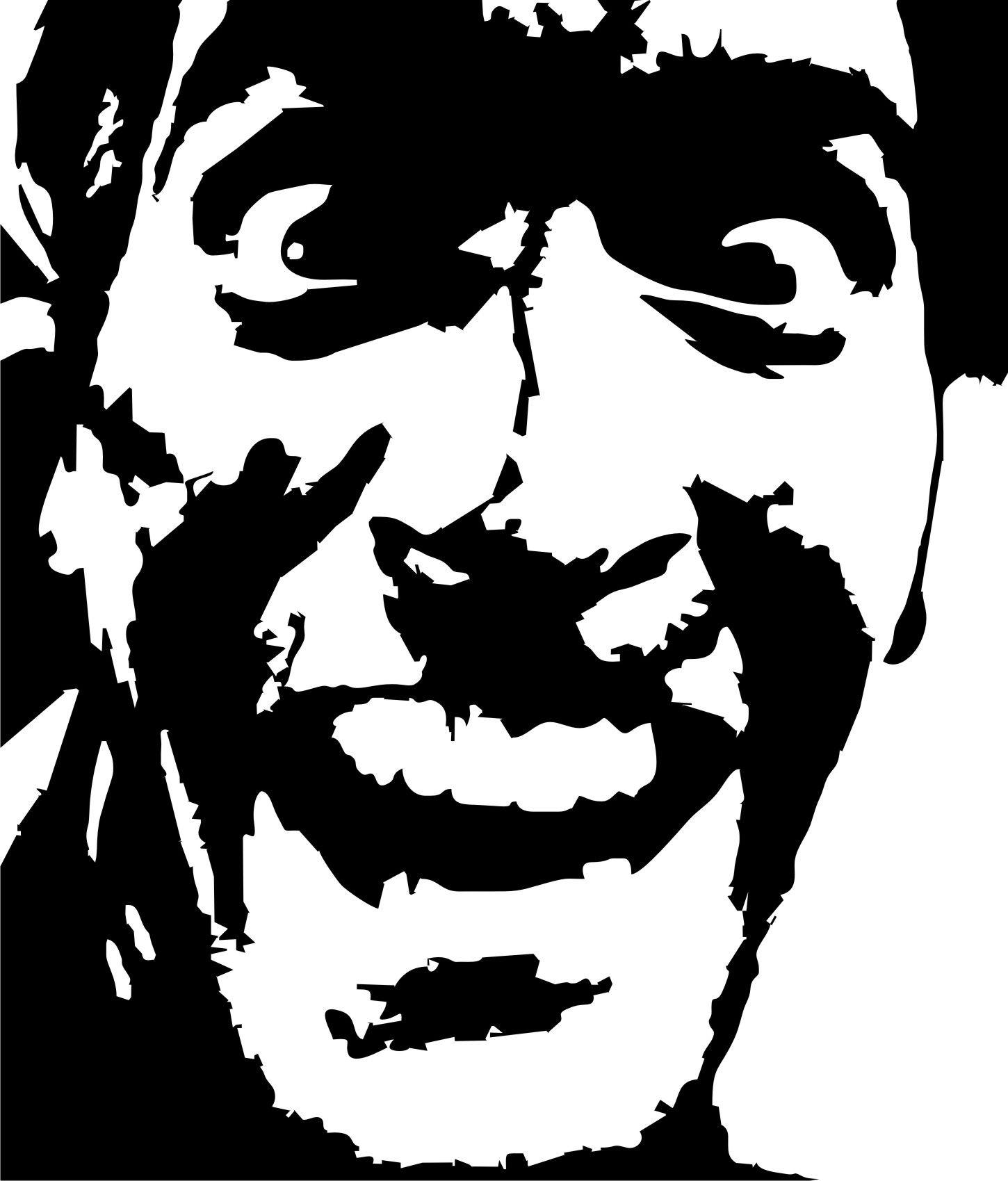 Bruce Campbell Evil Dead stencil template | Stencil Templates ...
