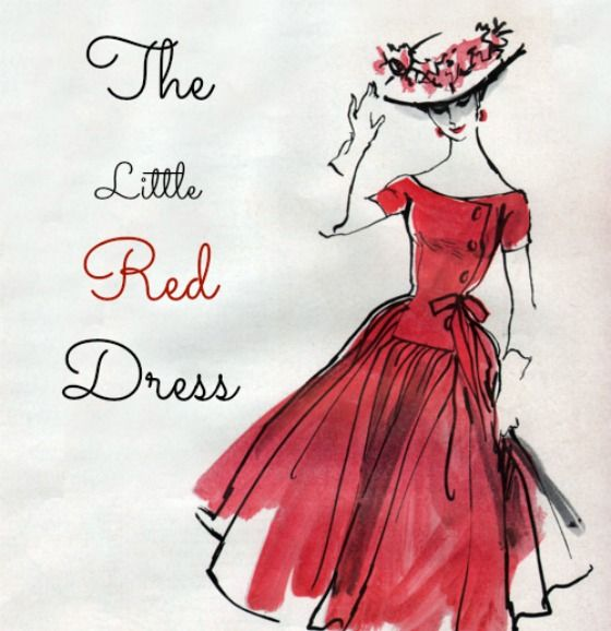 Stunning red dress fashion sketches