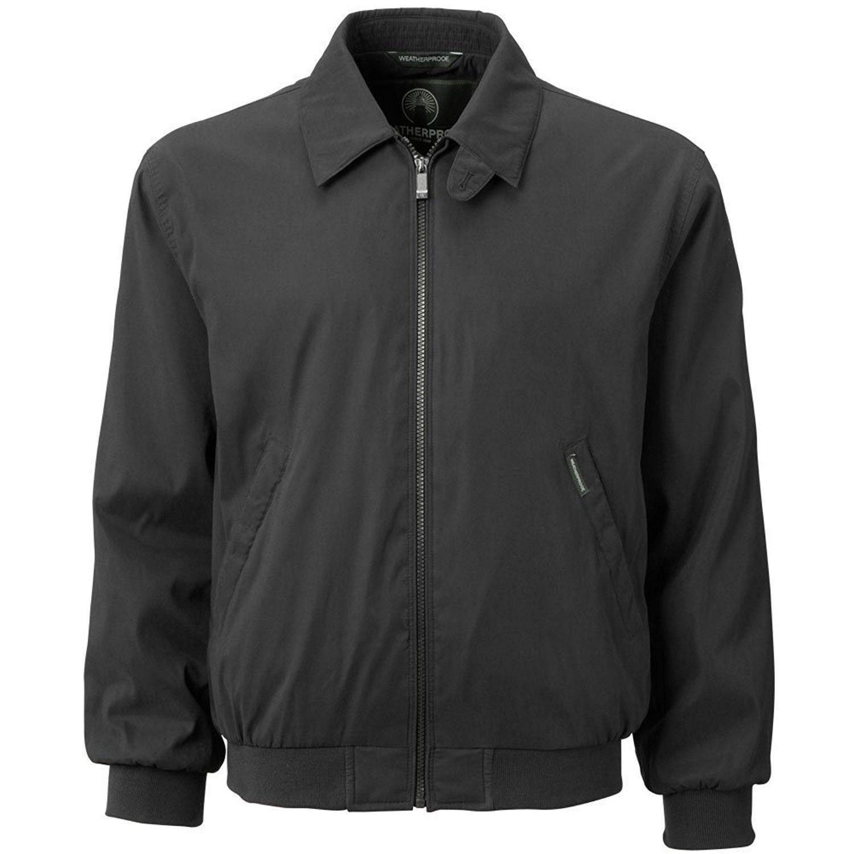Mens black golf jacket