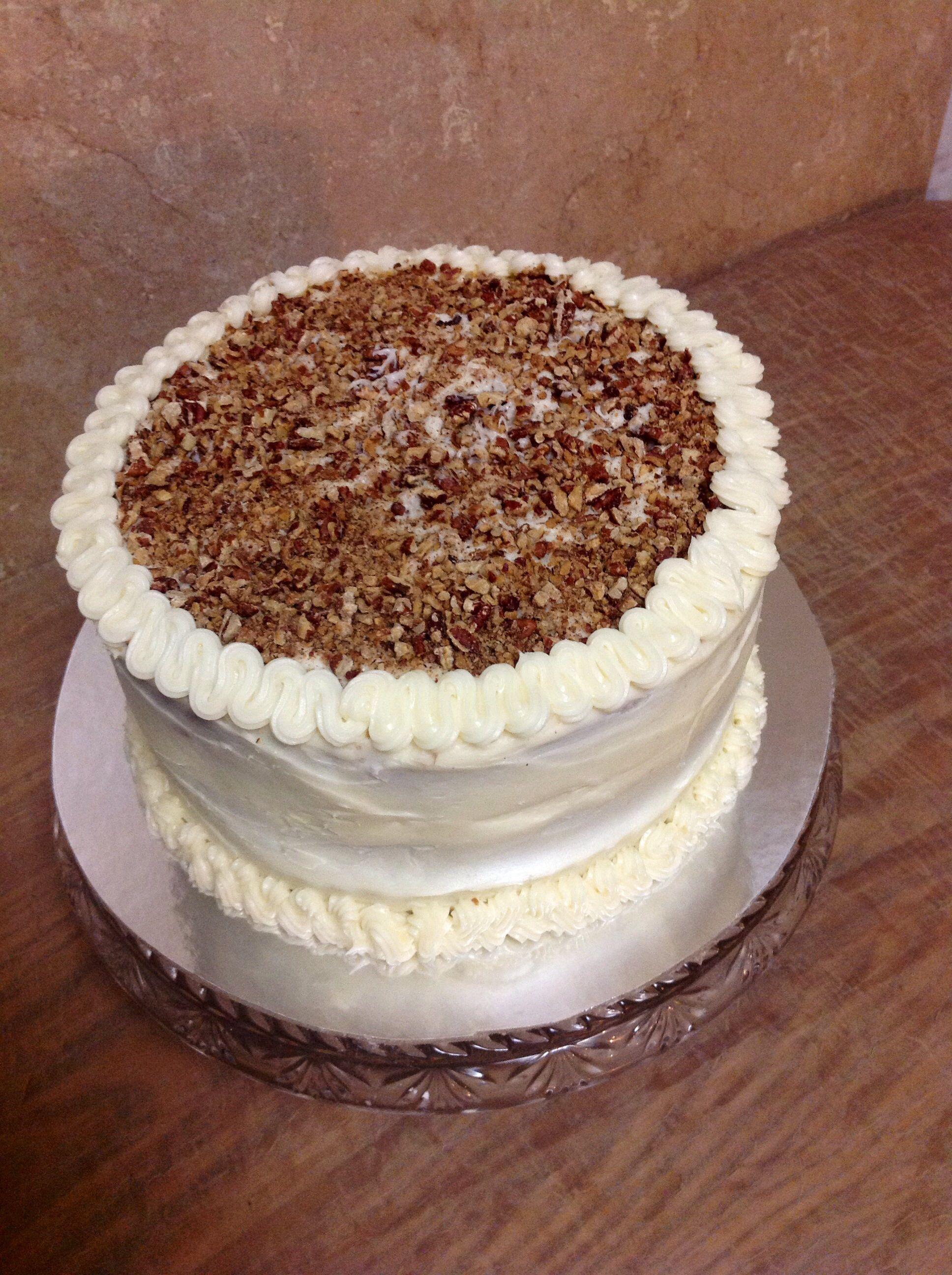 Two Layer Italian Cream Cake