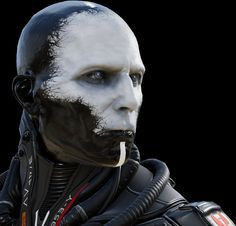 Caliban look. I love the hoses, but not necessarily the face make-up. Would like a more tattooed look.