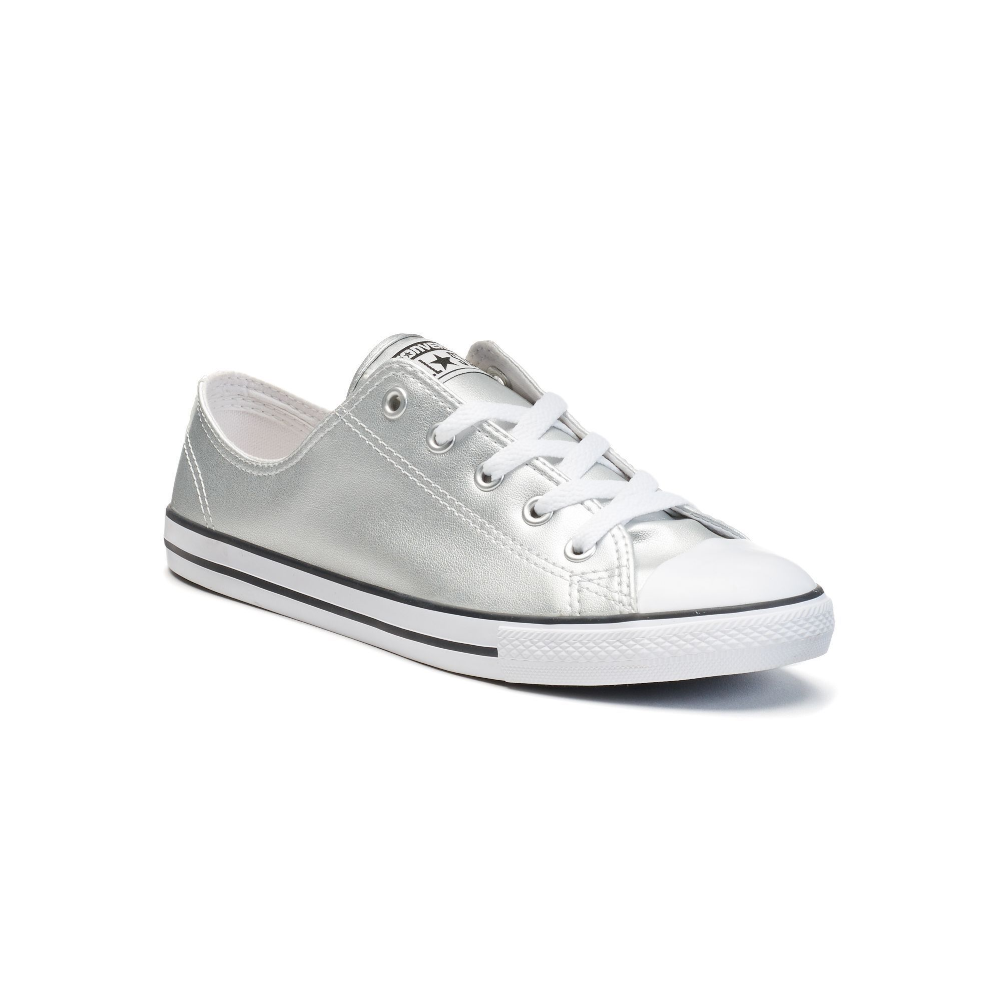 cf90f9832d77 Women s Converse Chuck Taylor All Star Dainty Metallic Leather Shoes ...