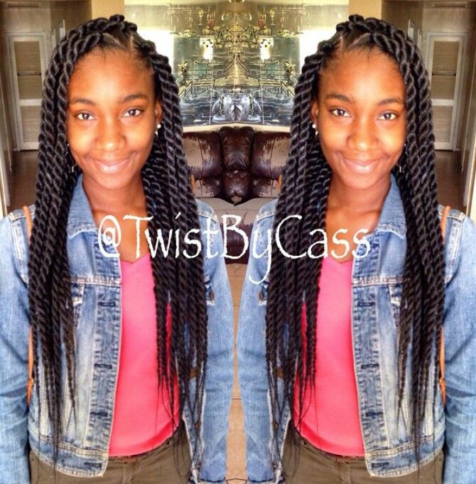 Senegalese twist medium large | Natural hair | Senegalese twist